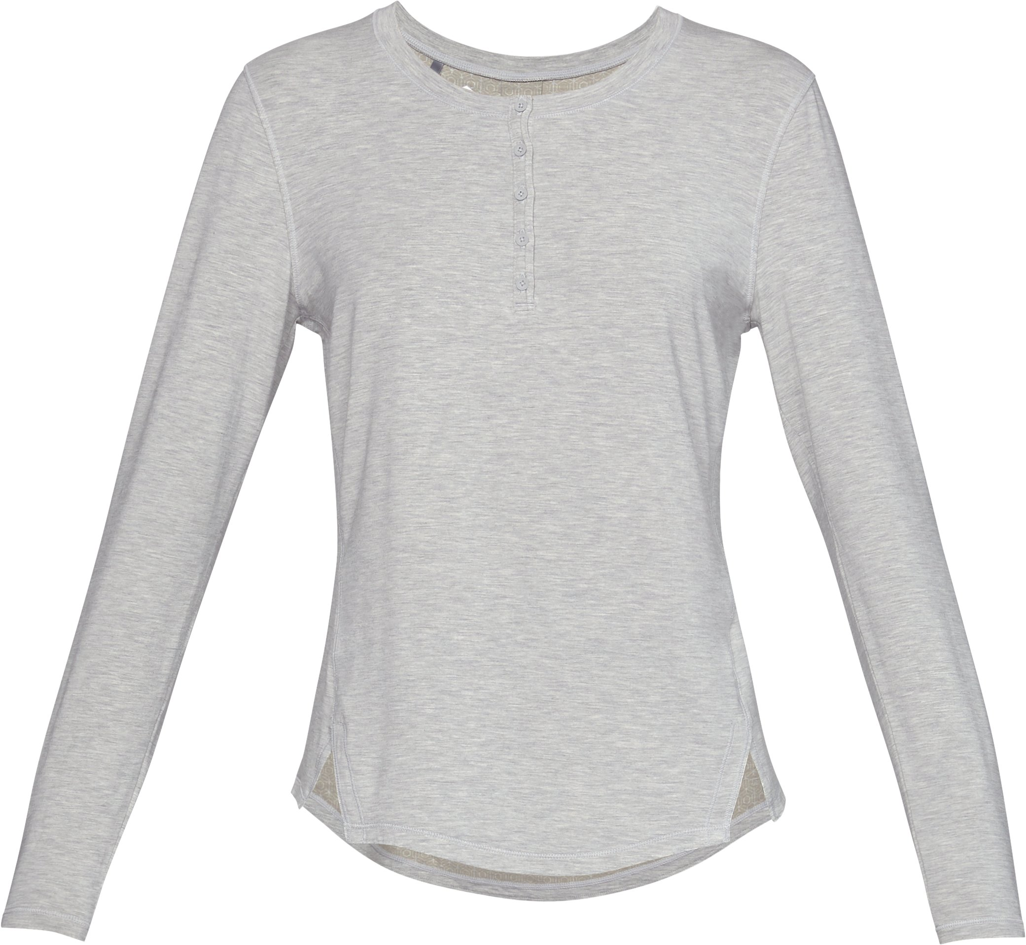 Women's Athlete Recovery Sleepwear™ Ultra Comfort Henley, ALUMINUM MEDIUM HEATHER,