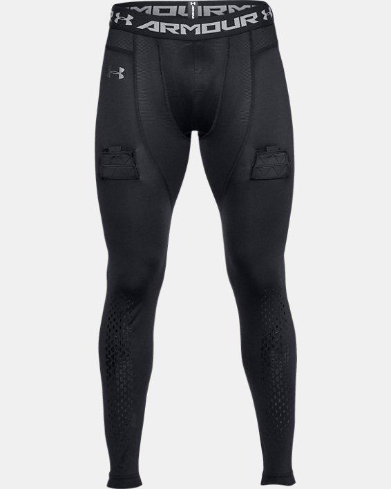 Men's UA Hockey Compression Leggings, Black, pdpMainDesktop image number 4