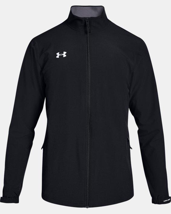 Men's UA Hockey Warm Up Jacket, Black, pdpMainDesktop image number 4