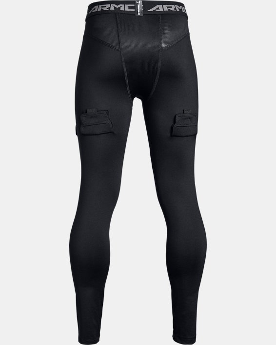 Boys' UA Hockey Leggings, Black, pdpMainDesktop image number 1