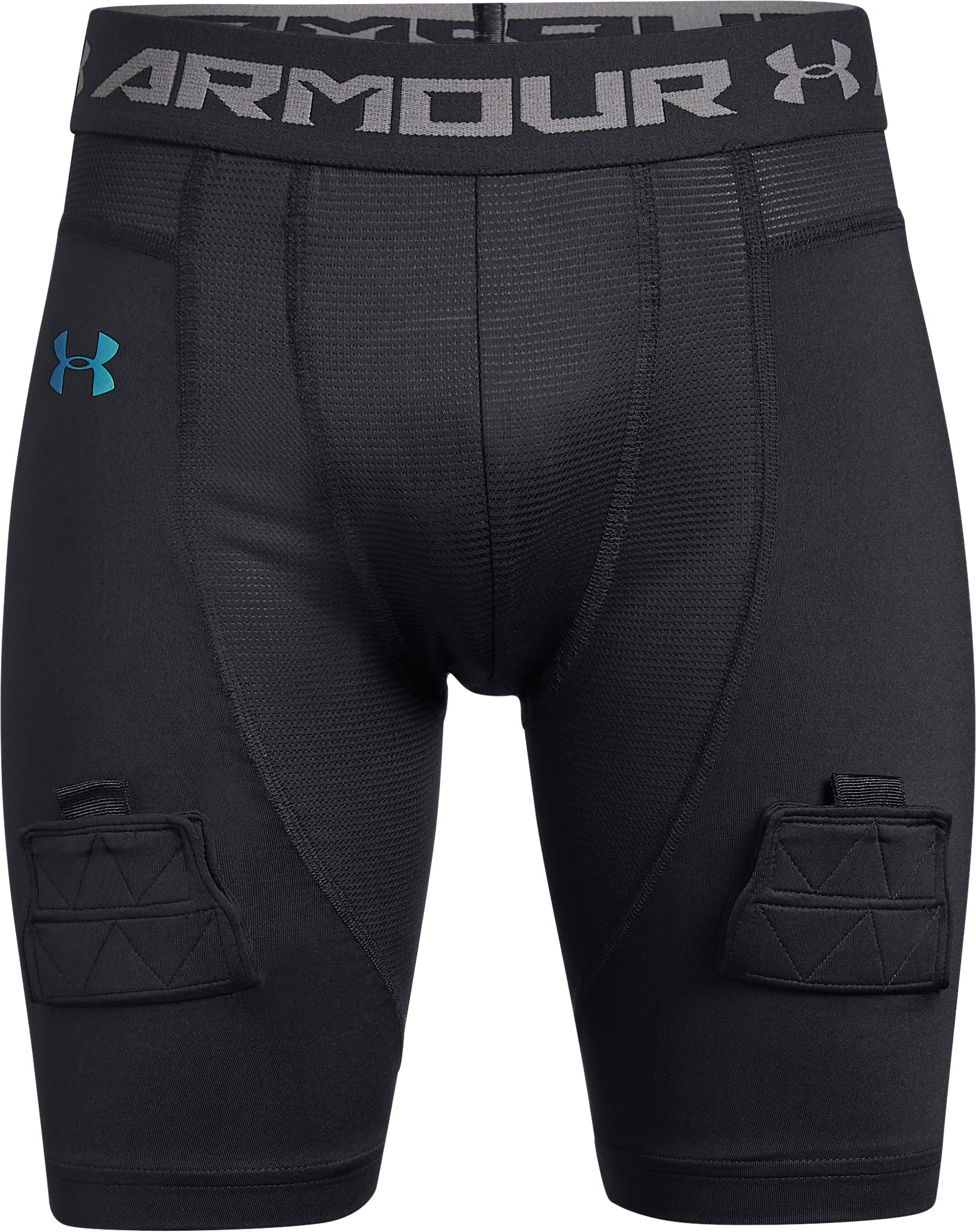 Boys' UA Hockey Shorts, Black , zoomed