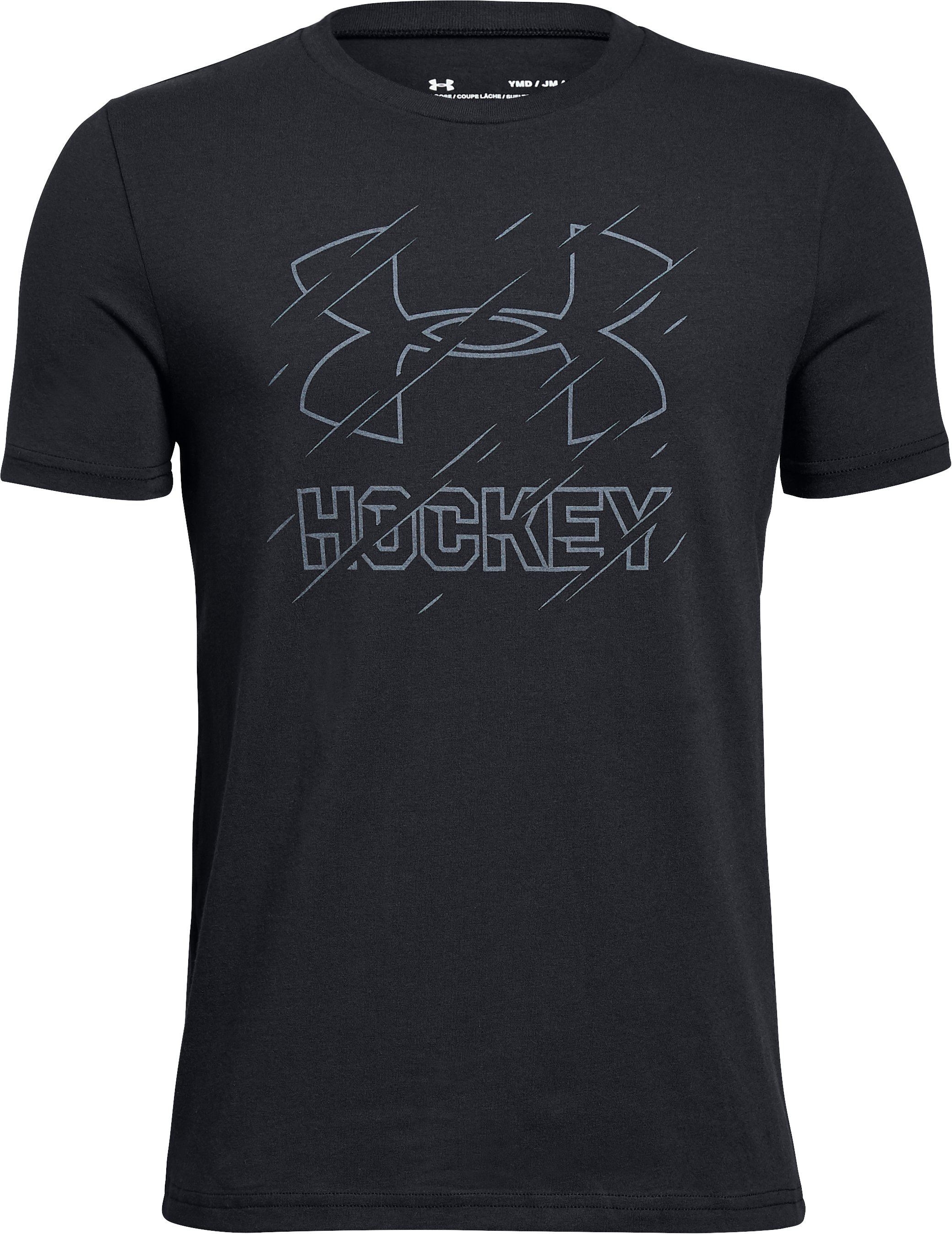 Boys' UA Hockey T-Shirt, Black , zoomed
