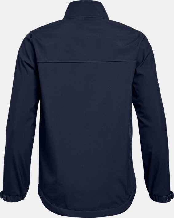 Boys' UA Hockey Softshell Jacket, Navy, pdpMainDesktop image number 1