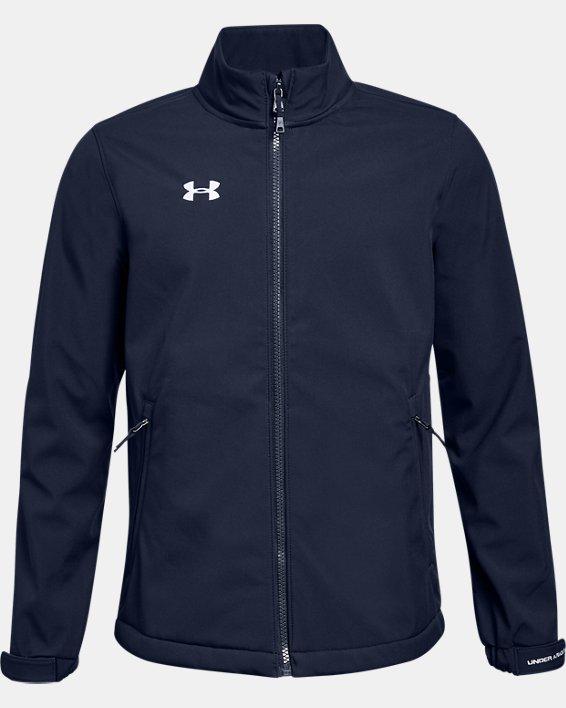 Boys' UA Hockey Softshell Jacket, Navy, pdpMainDesktop image number 0