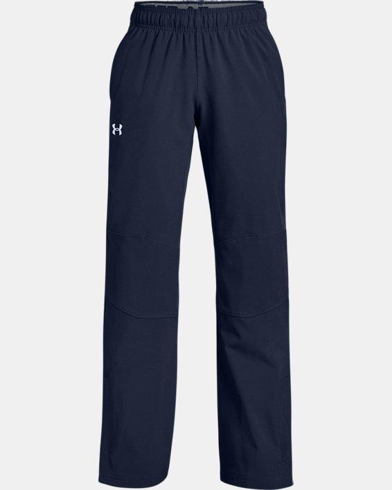Boys' UA Hockey Warm Up Pants, Navy, pdpMainDesktop image number 0