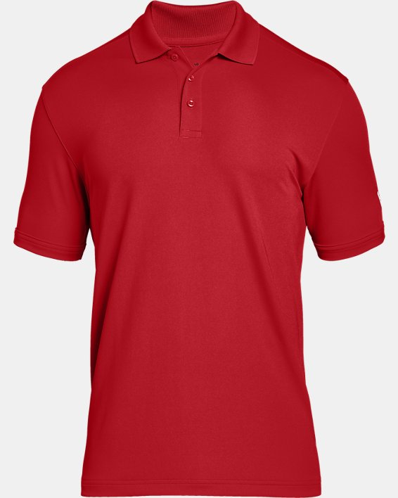 Men's UA Performance Corp Polo, Red, pdpMainDesktop image number 4