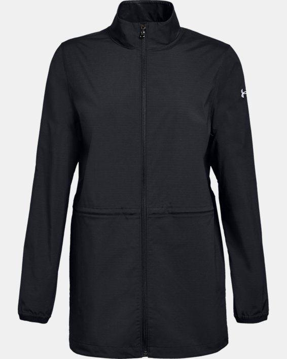Women's UA Windstrike Jacket, Black, pdpMainDesktop image number 4