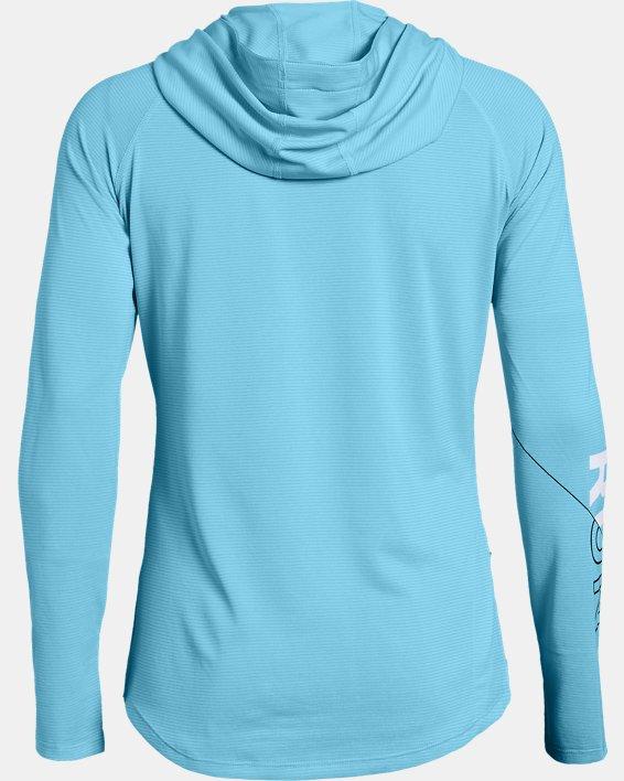 Women's UA Mileage Graphic Hoodie, Blue, pdpMainDesktop image number 1