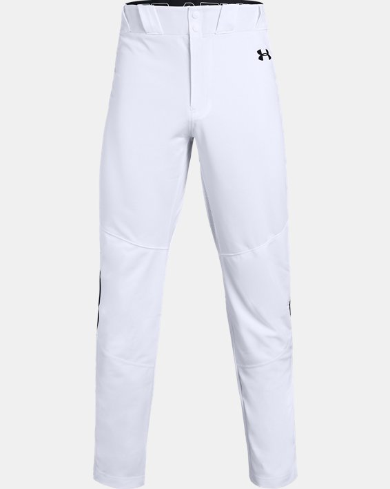 Men's UA Ace Relaxed Piped Baseball Pants, White, pdpMainDesktop image number 4