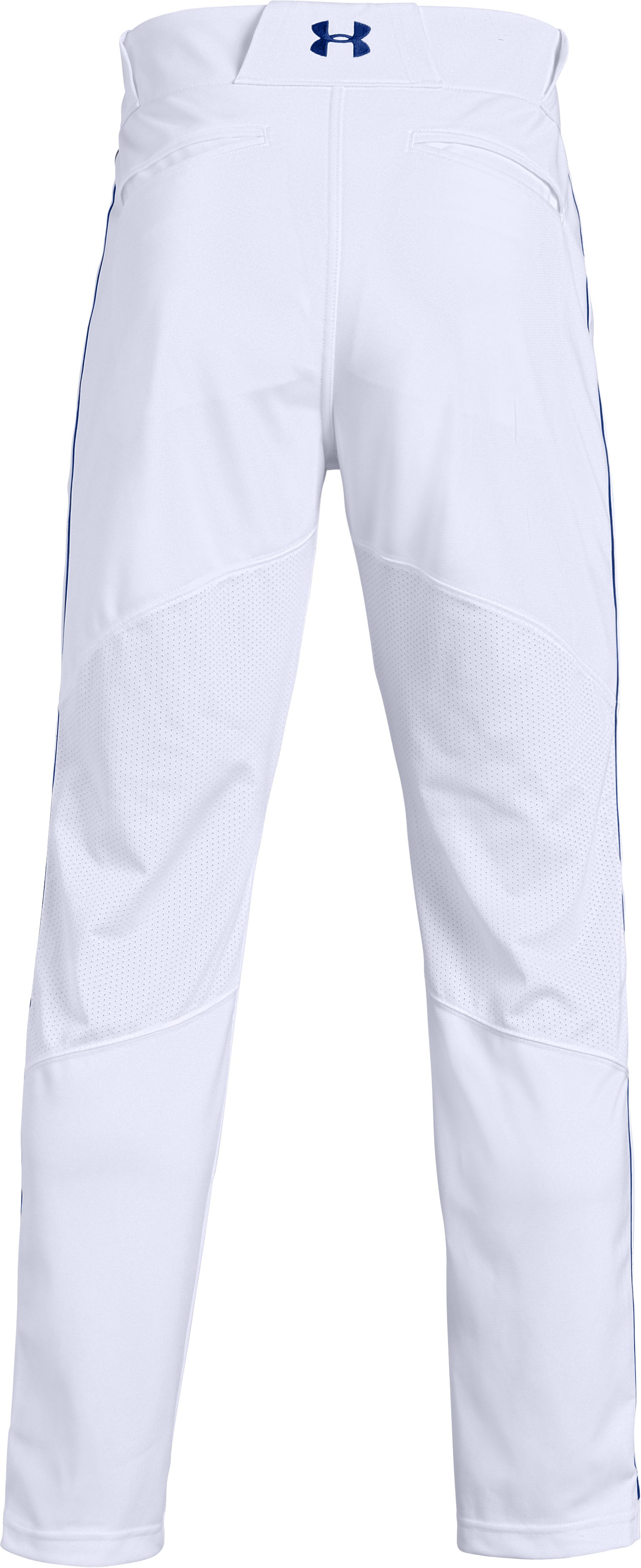 Men's UA Ace Relaxed Piped Baseball Pants, White,