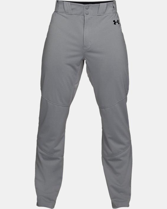 Men's UA Ace Relaxed Baseball Pants, Gray, pdpMainDesktop image number 4