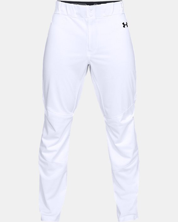 Men's UA Ace Relaxed Baseball Pants, White, pdpMainDesktop image number 4