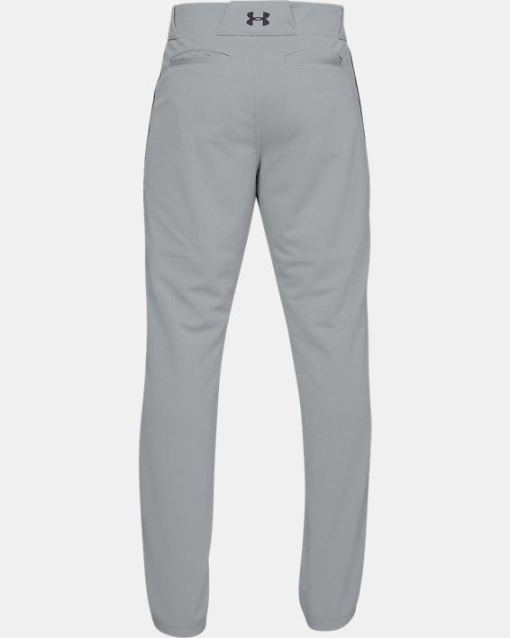Men's UA Utility Relaxed Piped Baseball Pants, Gray, pdpMainDesktop image number 4