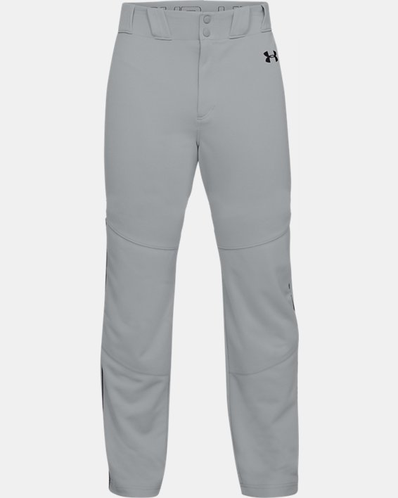 Men's UA Utility Relaxed Piped Baseball Pants, Gray, pdpMainDesktop image number 3