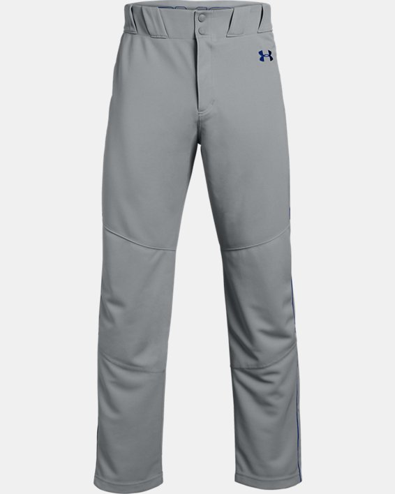 Men's UA Utility Relaxed Piped Baseball Pants, Gray, pdpMainDesktop image number 4