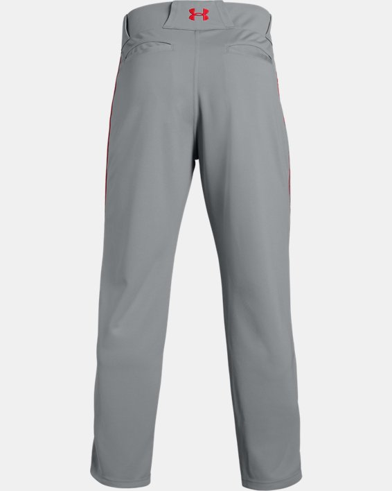 Men's UA Utility Relaxed Piped Baseball Pants, Gray, pdpMainDesktop image number 5