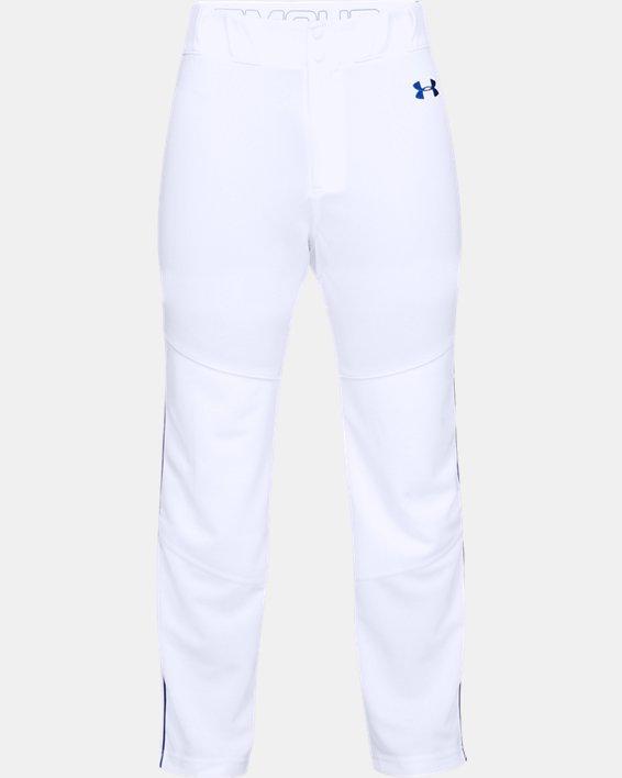 Men's UA Utility Relaxed Piped Baseball Pants, White, pdpMainDesktop image number 3