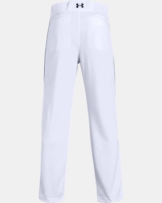 Men's UA Utility Relaxed Piped Baseball Pants, White, pdpMainDesktop image number 4
