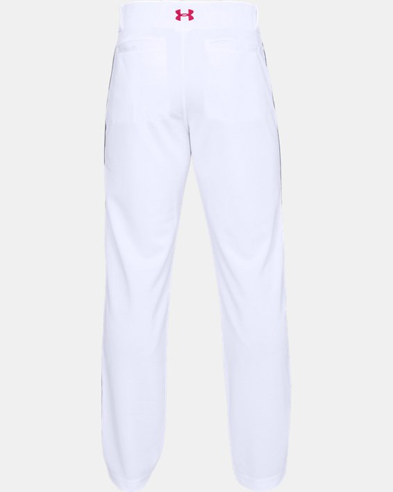 Men's UA Utility Relaxed Piped Baseball Pants, White, pdpMainDesktop image number 4