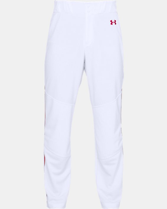 Men's UA Utility Relaxed Piped Baseball Pants, White, pdpMainDesktop image number 3