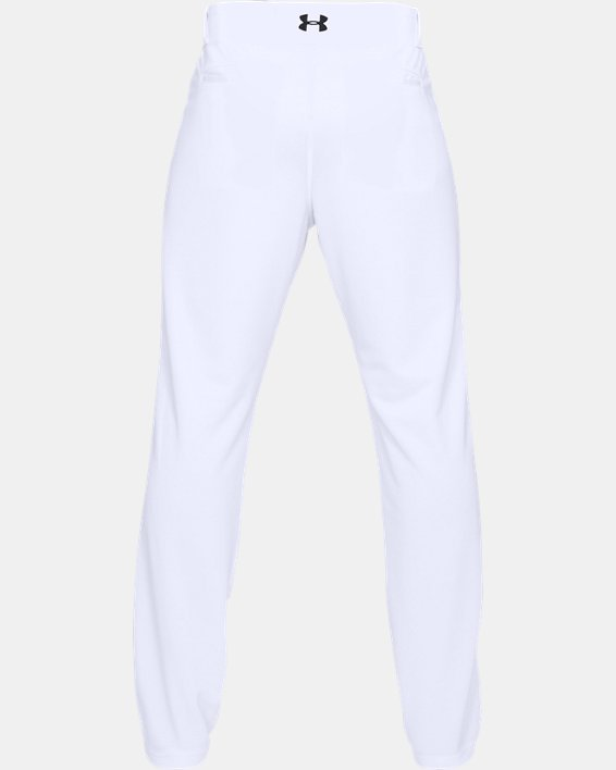 Men's UA IL Utility Relaxed Baseball Pants, White, pdpMainDesktop image number 4