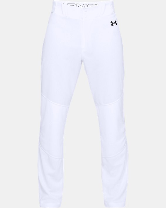 Men's UA IL Utility Relaxed Baseball Pants, White, pdpMainDesktop image number 3