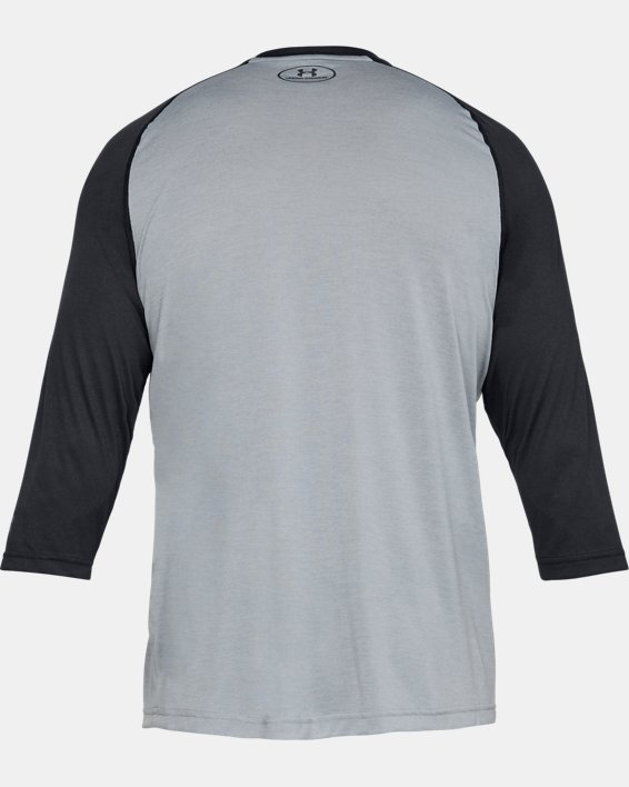 Men's UA Bullpen ¾ Shirt, Gray, pdpMainDesktop image number 4