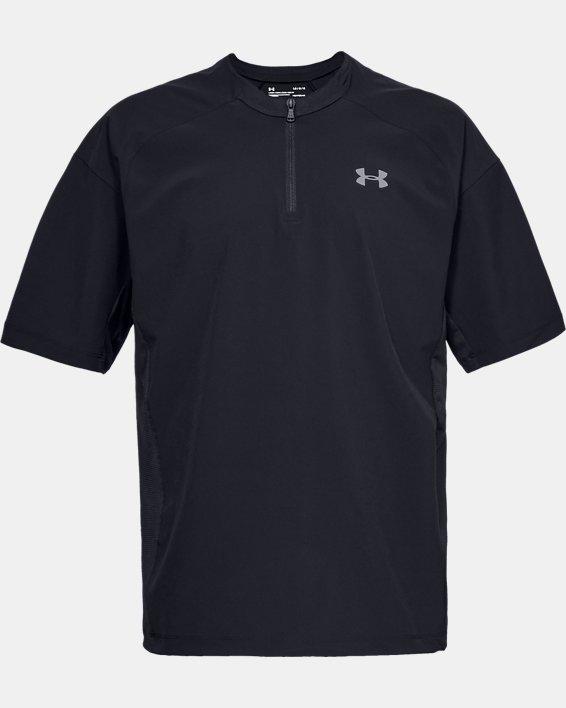 Men's UA Utility Short Sleeve Cage Jacket, Black, pdpMainDesktop image number 3