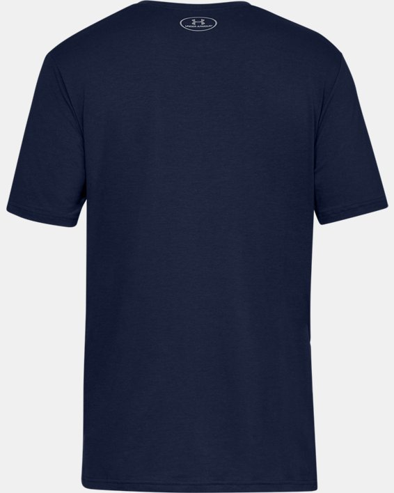 Men's UA Plate Icon Short Sleeve Shirt, Navy, pdpMainDesktop image number 4