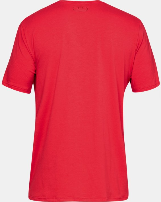 Men's UA Plate Icon Short Sleeve Shirt, Red, pdpMainDesktop image number 4