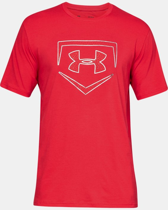Men's UA Plate Icon Short Sleeve Shirt, Red, pdpMainDesktop image number 3