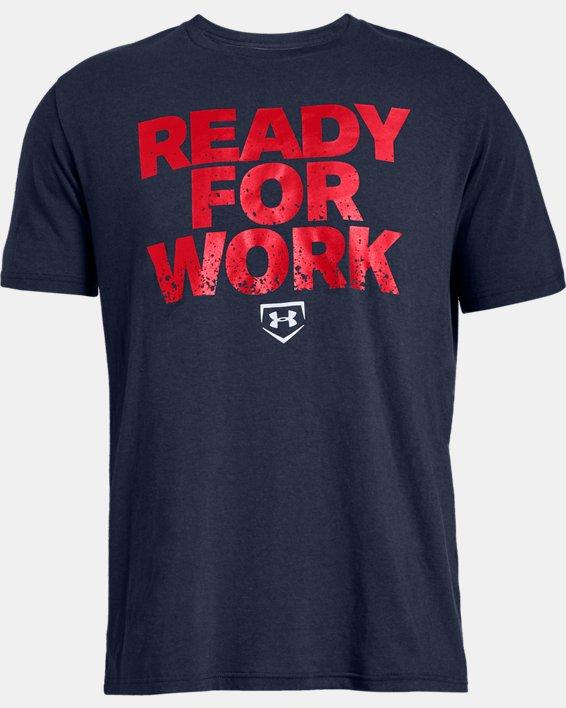 Men's UA Ready4Work Short Sleeve Shirt, Navy, pdpMainDesktop image number 3