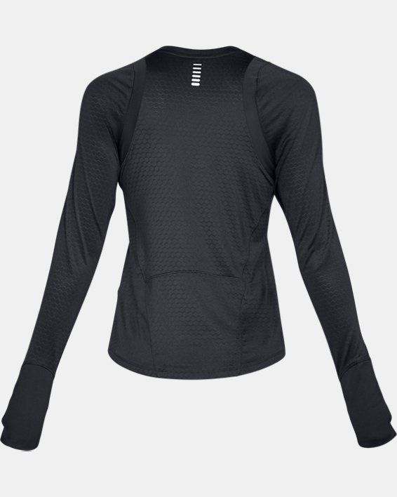 Women's UA HexDelta Long Sleeve, Black, pdpMainDesktop image number 5