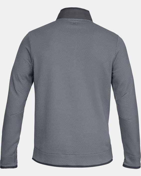Men's UA Storm SweaterFleece Snap Mock, Gray, pdpMainDesktop image number 4