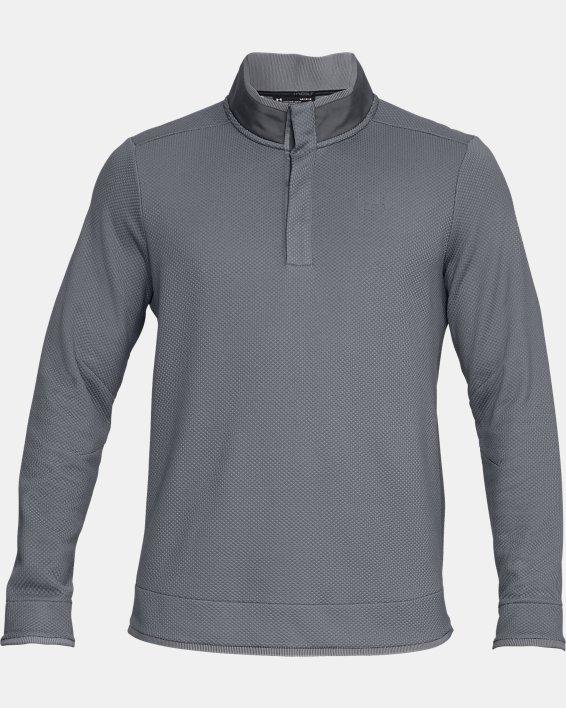 Men's UA Storm SweaterFleece Snap Mock, Gray, pdpMainDesktop image number 3