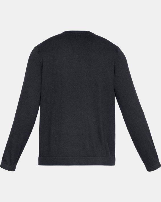 Men's UA Threadborne Crew Sweater, Black, pdpMainDesktop image number 5