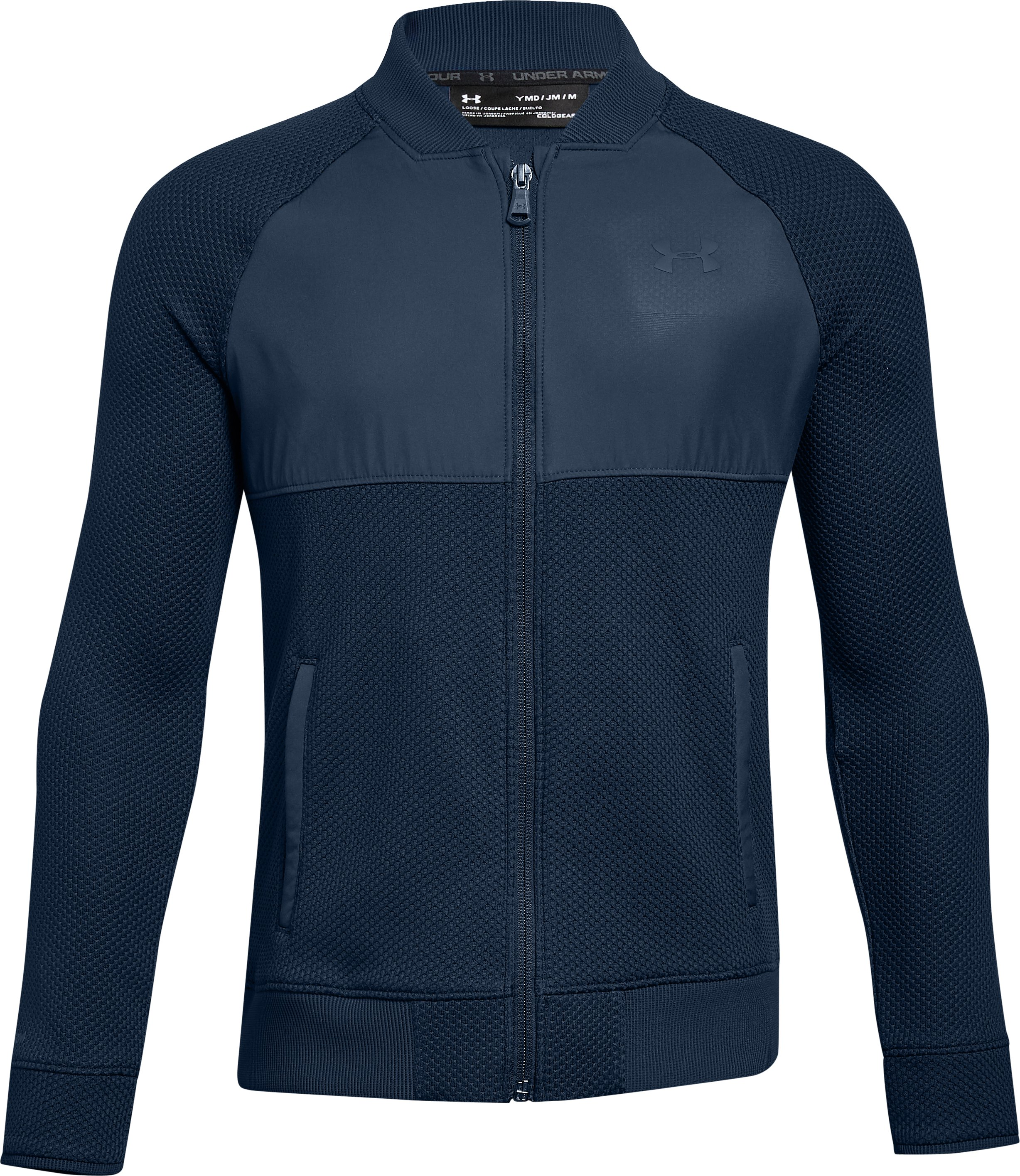 Boys' UA Storm SweaterFleece Hybrid Full Zip Jacket 2 Colors $65.00