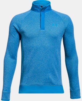 Boys' UA Storm SweaterFleece ½ Snap LIMITED TIME ONLY 4  Colors Available $45.5