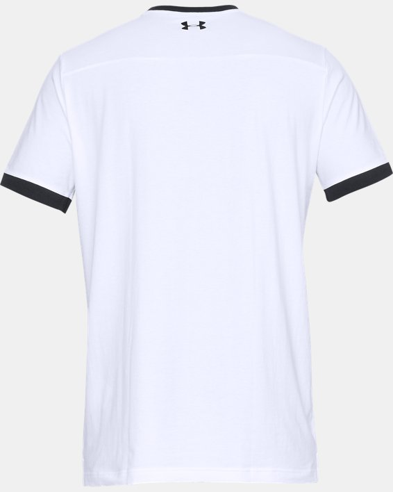 Men's UA Pursuit Beat The Block T-Shirt, White, pdpMainDesktop image number 5
