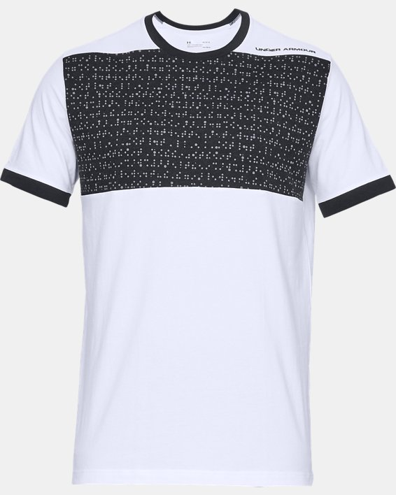 Men's UA Pursuit Beat The Block T-Shirt, White, pdpMainDesktop image number 4