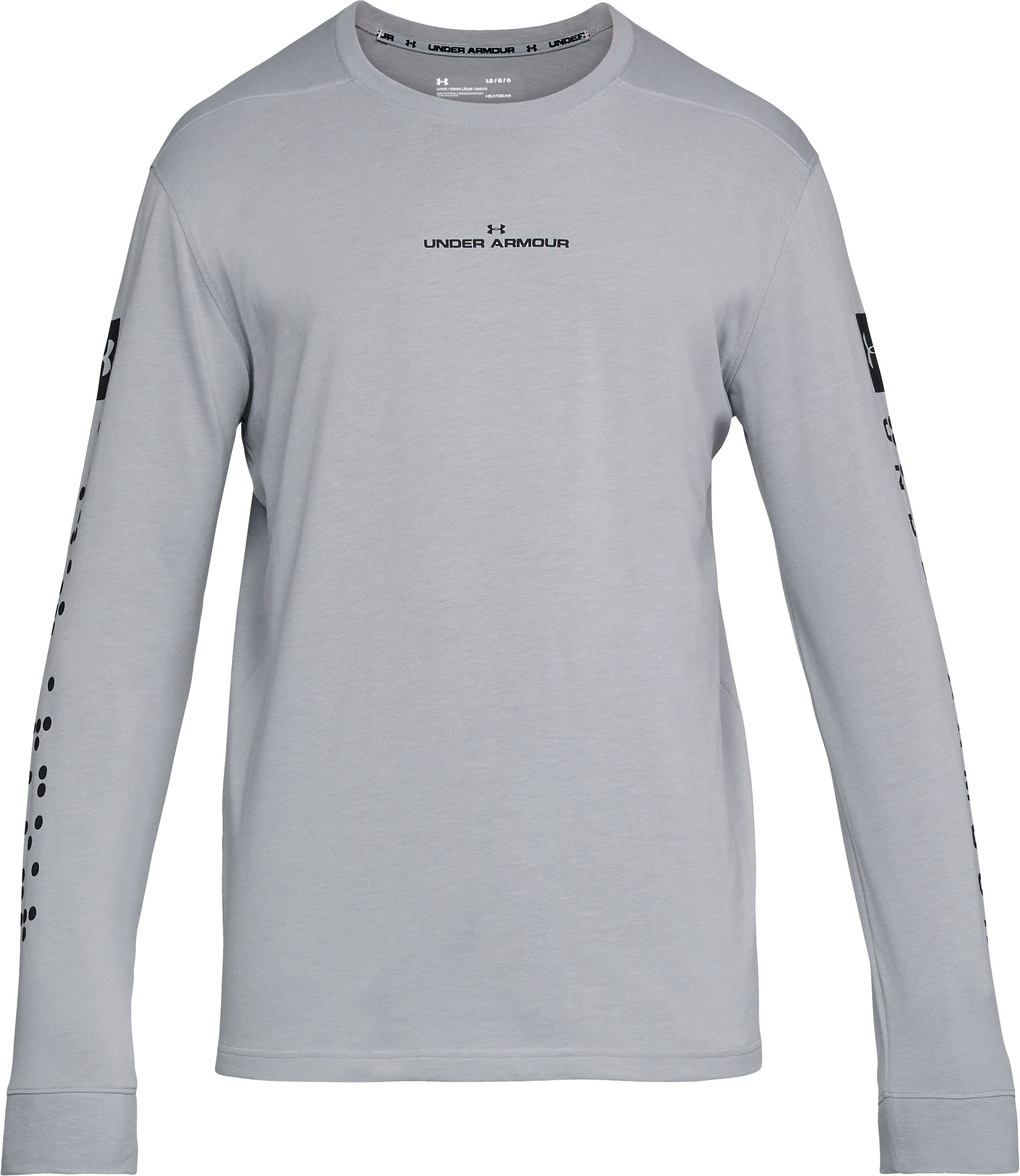 Men's UA Pursuit Long Sleeve, STEEL LIGHT HEATHER,
