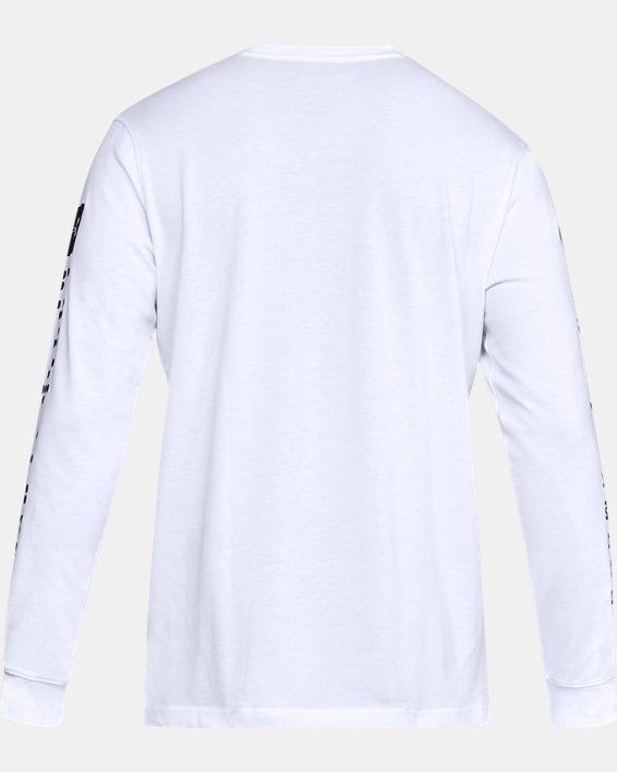 Men's UA Pursuit Long Sleeve, White, pdpMainDesktop image number 5