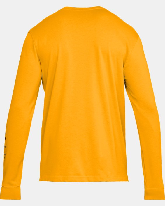 Men's UA Pursuit Long Sleeve, Orange, pdpMainDesktop image number 5