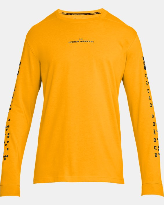 Men's UA Pursuit Long Sleeve, Orange, pdpMainDesktop image number 4