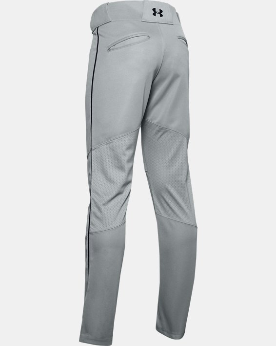 Boys' UA Ace Relaxed Piped Baseball Pants, Gray, pdpMainDesktop image number 1