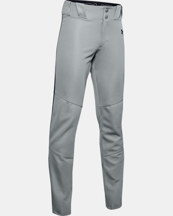 Boys' UA Ace Relaxed Piped Baseball Pants, Gray, pdpMainDesktop image number 0