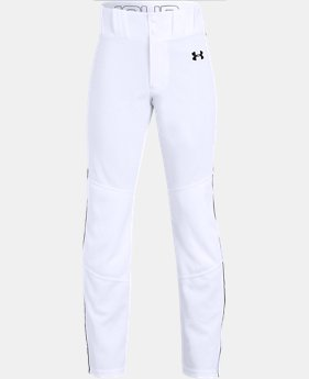 New Arrival Boys' UA Utility Relaxed Piped Baseball Pants  6  Colors Available $30