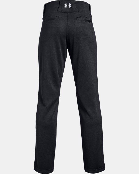 Boys' UA Utility Relaxed Baseball Pants, Black, pdpMainDesktop image number 1