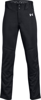 Baseball Under Armour Pant Pro Style Elastic Bottom Gray White Black Size M L XL