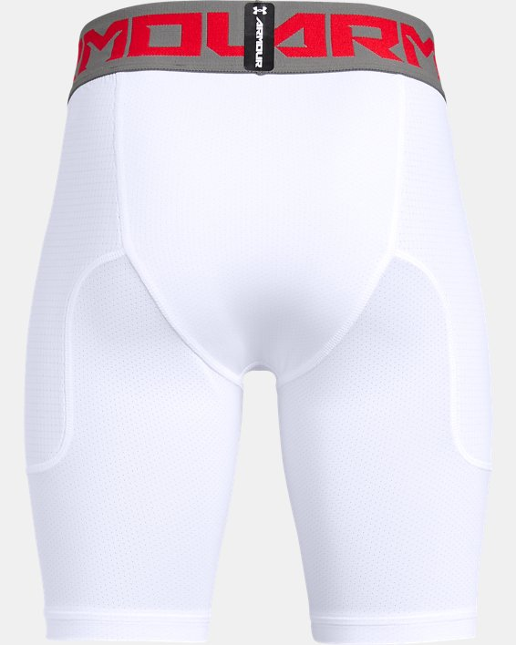 Boys' UA Utility Slider Baseball Shorts, White, pdpMainDesktop image number 1